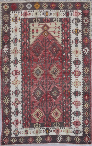 R5888 Antique Anatolian Kilim Rug