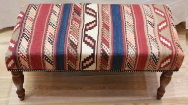R7590 Antique Bench Kilim Stool