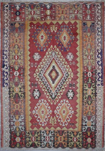 R6375 Antique Cal Kilim