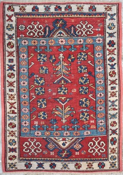 R837 Antique Caucasian  Kazak Rug