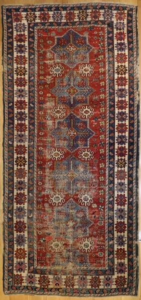 R4803 Antique Caucasian Akstafa Carpet