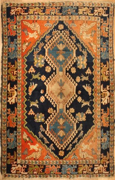R6054 Antique Caucasian Armenian Erivan Rug