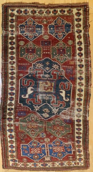 R1651 Antique Caucasian Chondzoresk Rug
