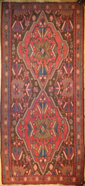 F767 Antique Caucasian Karabagh Kilim Rug