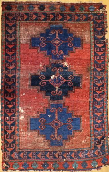 R2838 Antique Caucasian Kazak Carpet
