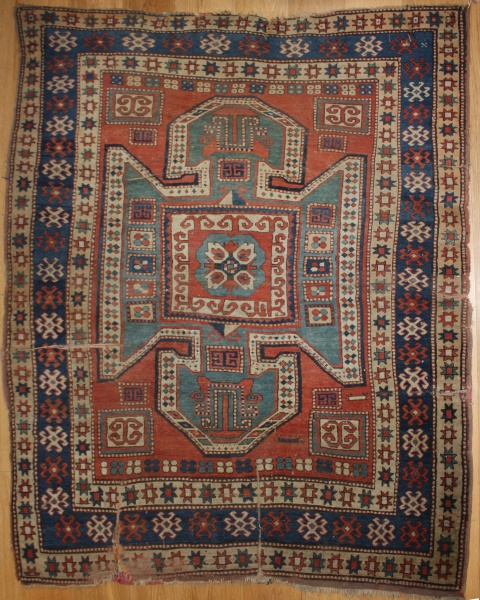 Antique Caucasian Sewan Kazak Carpet R7805