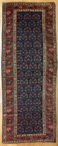 Antique Caucasian Kazak Carpet Runner R7774
