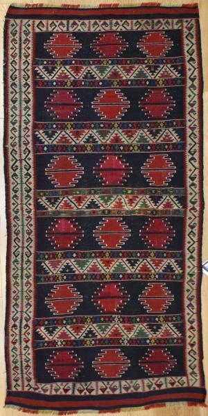 Antique Caucasian Kazak Kilim Rug R6498