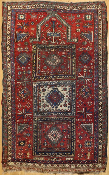 R6496 Antique Caucasian Kazak Rug