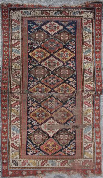 R1991 Antique Caucasian Kazak Rug