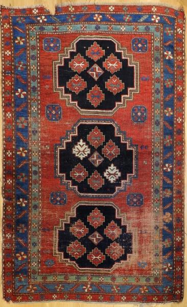 R4873 Antique Caucasian Kazak Carpet