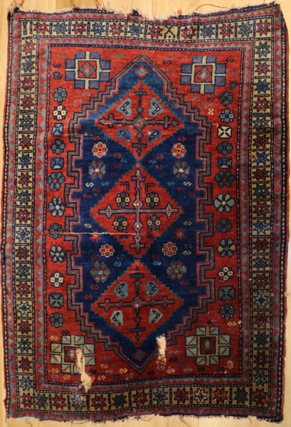 R5358 Antique Caucasian Kazak Rug