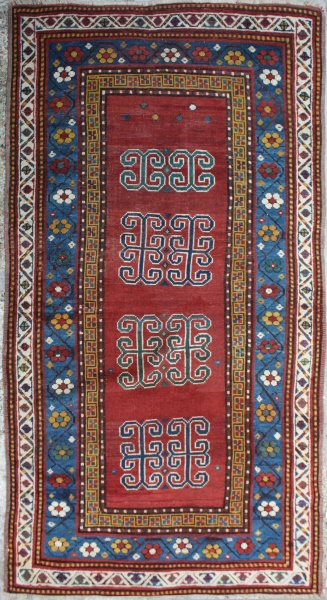 R2384 Antique Caucasian Kazak Rug