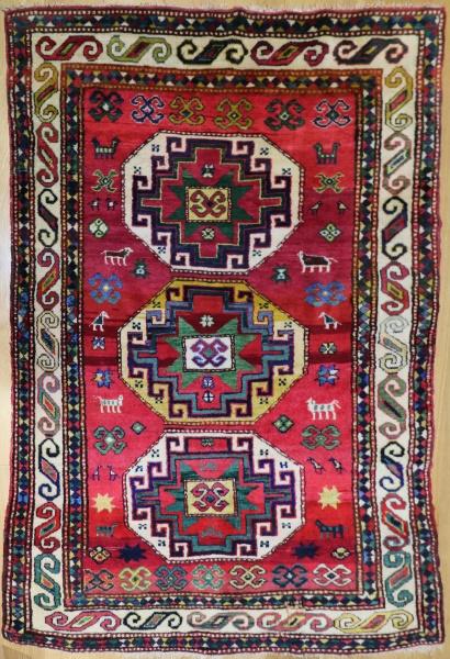 R9045 Antique Caucasian Kazak Rugs
