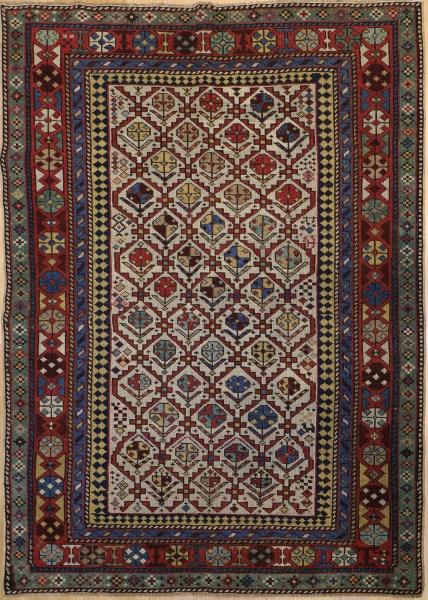R9386 Antique Caucasian Kuba Rug