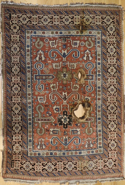 R3383 Antique Caucasian Perepedil Rug