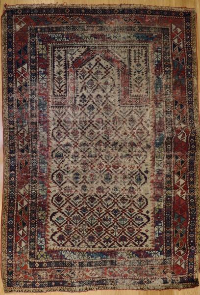 R6043 Antique Caucasian Rug