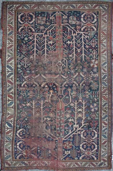 R3397 Antique Caucasian Shirvan Carpet