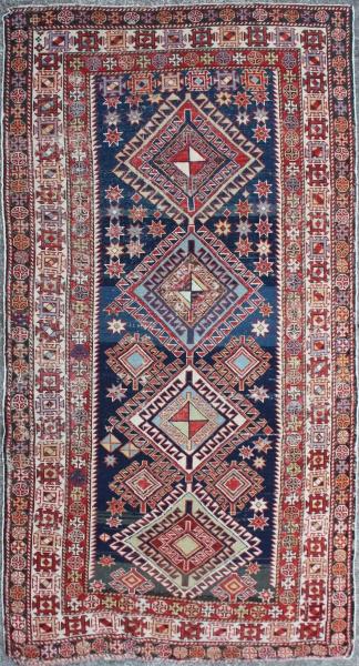 R4513 Antique Caucasian Shirvan Rug