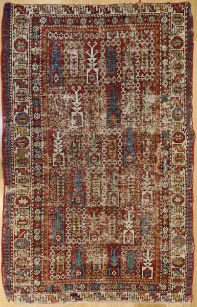 R6041 Antique Caucasian Shirvan Rug