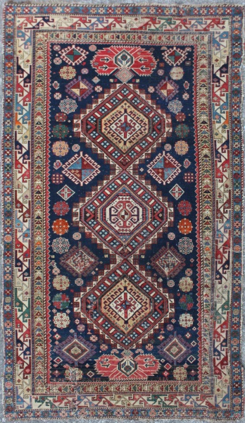 R3849 Antique Caucasian Shirvan Rug