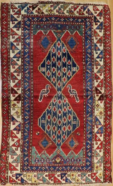 R7752 Antique Caucasian Shirvan Rug
