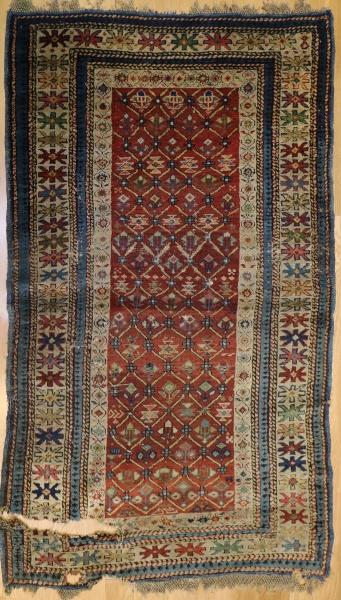 R7759 Antique Caucasian Shirvan Rug