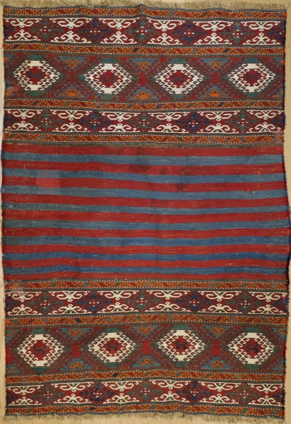 R2313 Antique Caucasian Sumac Rug