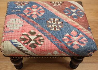 R7746 Antique Handmade Kilim Footstool Rug Store