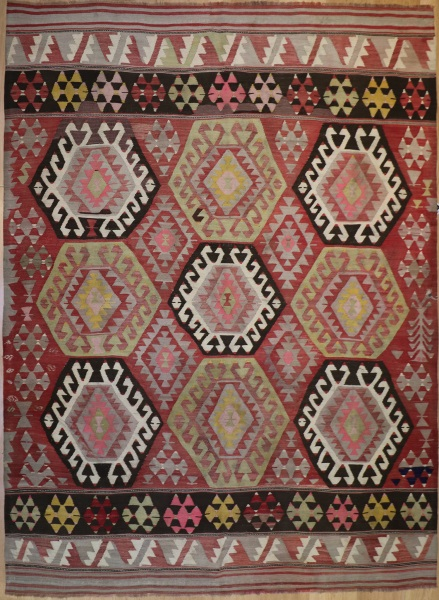 R6354 Antique Karakecili Kilim
