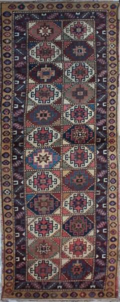 R1294 Antique Kazak Carpet Runner
