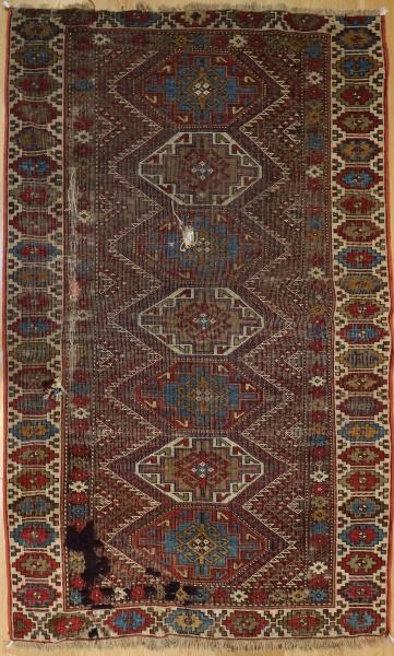 R6992 Antique Kazak Rug