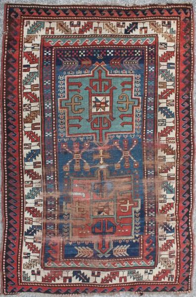R2878 Antique Kazak Rug