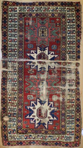 F1647 Antique Kazak Rug