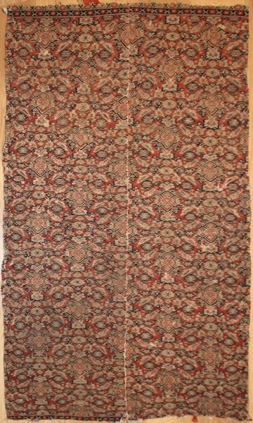 R6474 Antique Persian Senneh Kilim