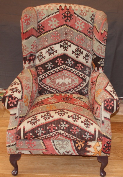 R6467 Antique Kilim Chair