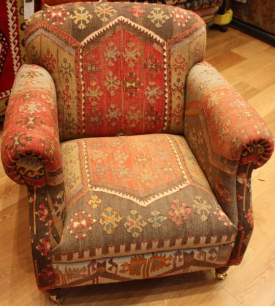 R7462 Antique Kilim Chair