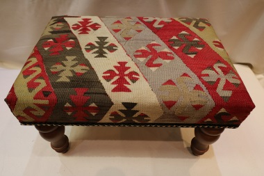 R6464 Antique Kilim Footstool