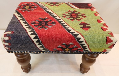 R7042 Antique Kilim Footstools