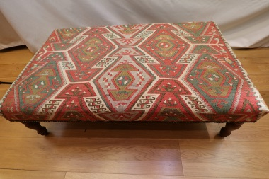 R4732 Antique Kilim Ottoman Stool Table