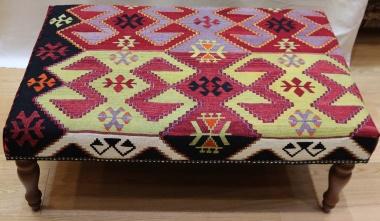 R8402 Antique Kilim Ottoman Stool Table