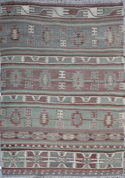 R2624 Antique Kilim Rug Turkish