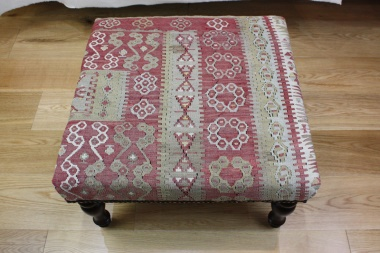 R5262 Antique Kilim Stool