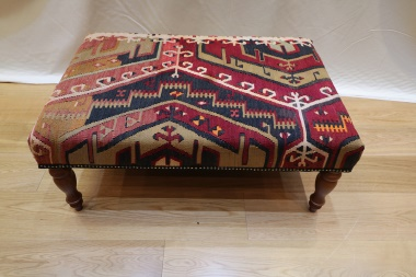 R7450 Antique Kilim Stool Table