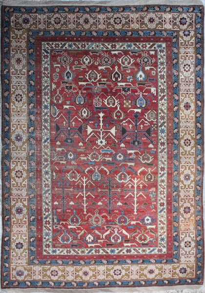 R3848 Antique Kuba Rug