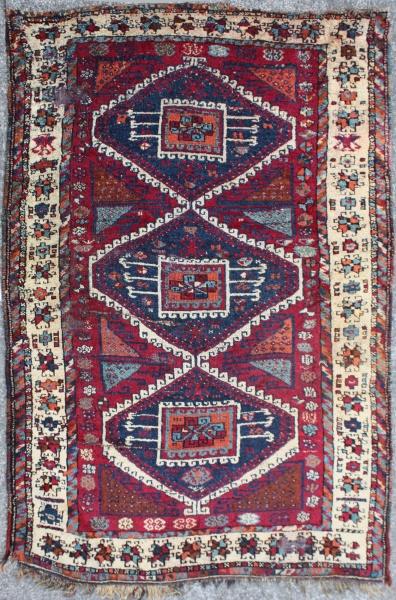 R2444 Antique Kurdish Rug