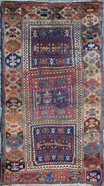 R3193 Antique Kurdish Rug
