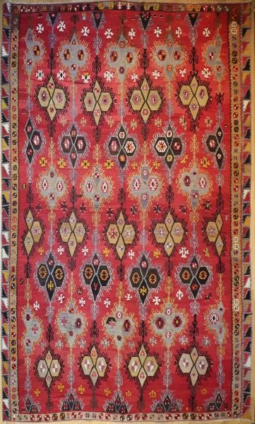 R8166 Antique Large Turkish Kilim Rug