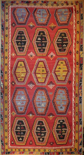 R8170 Antique Large Turkish Kilim Rug