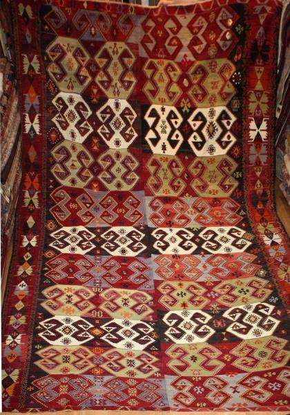 Antique Large Turkish Kilim Rug R8006